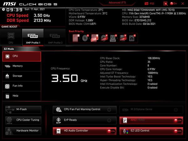 MSI MAG B560 TOMAHAWK WIFI_BIOS_1