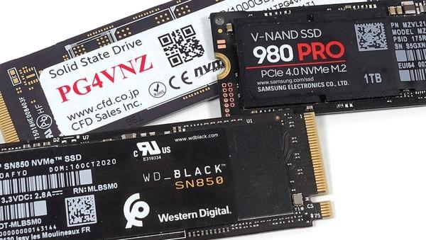 PCIE4.0対応NVMe M.2 SSDのレビュー記事一覧へ