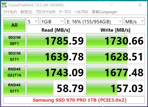 Samsung 970 PRO 1TB(PCIE3.0x2)