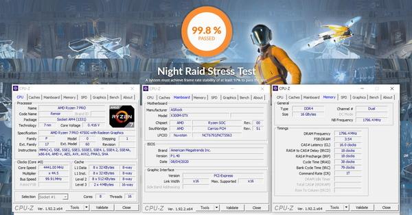 ASRock DeskMini X300_GPU-Stress_Corsair Vengeance SODIMM