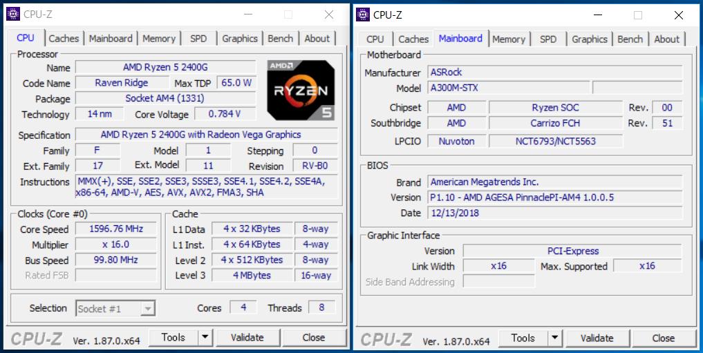 ASRock DeskMini A300_Ryzen 5 2400G_CPU-Z (1)
