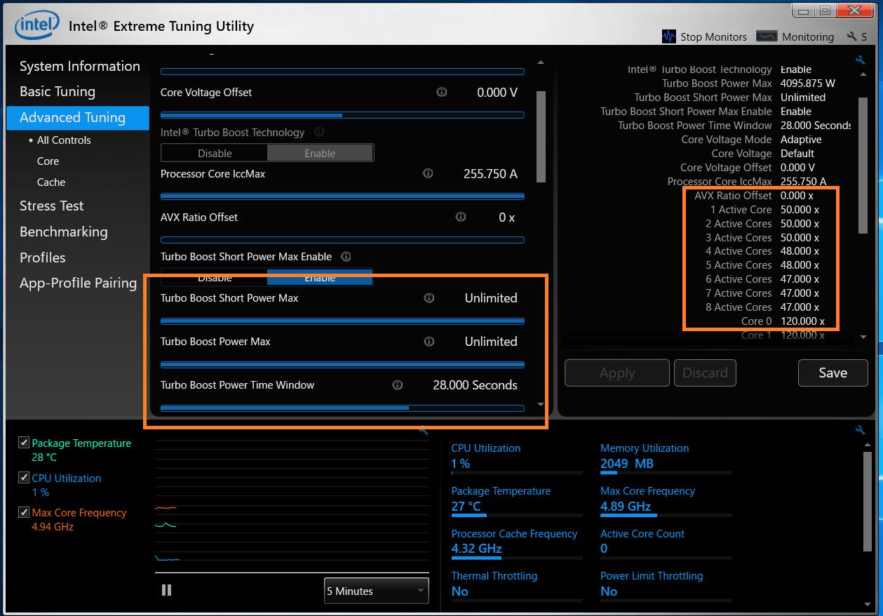 Intel Core i9 9900K_XTU_Auto