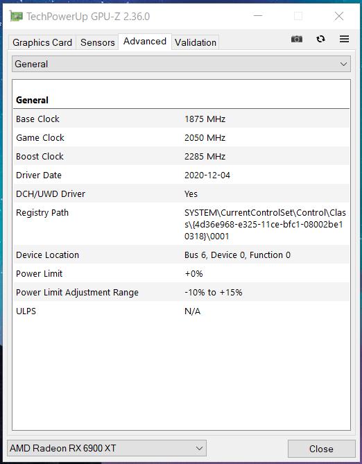 SAPPHIRE NITRO+ Radeon RX 6900 XT_Perf_GPU-Z (2)