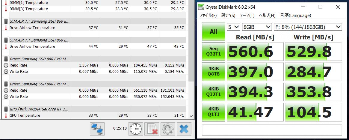 Samsung 860 EVO M.2 2TB_temp test
