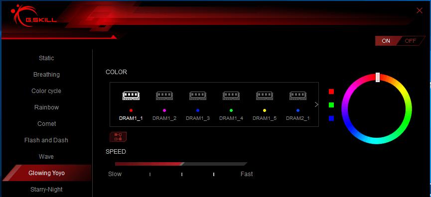 Trident Z RGB Control_Glowing yoyo