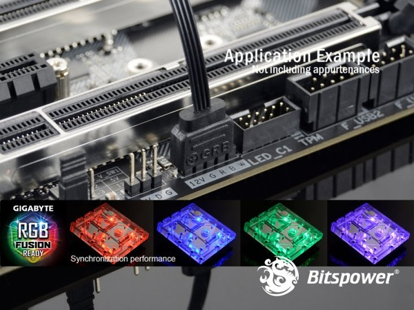 Bitspower Mono Block GAZ370G7 RGB-Nickel (2)