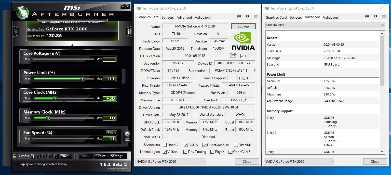 GeForce RTX 2080_OC Setting