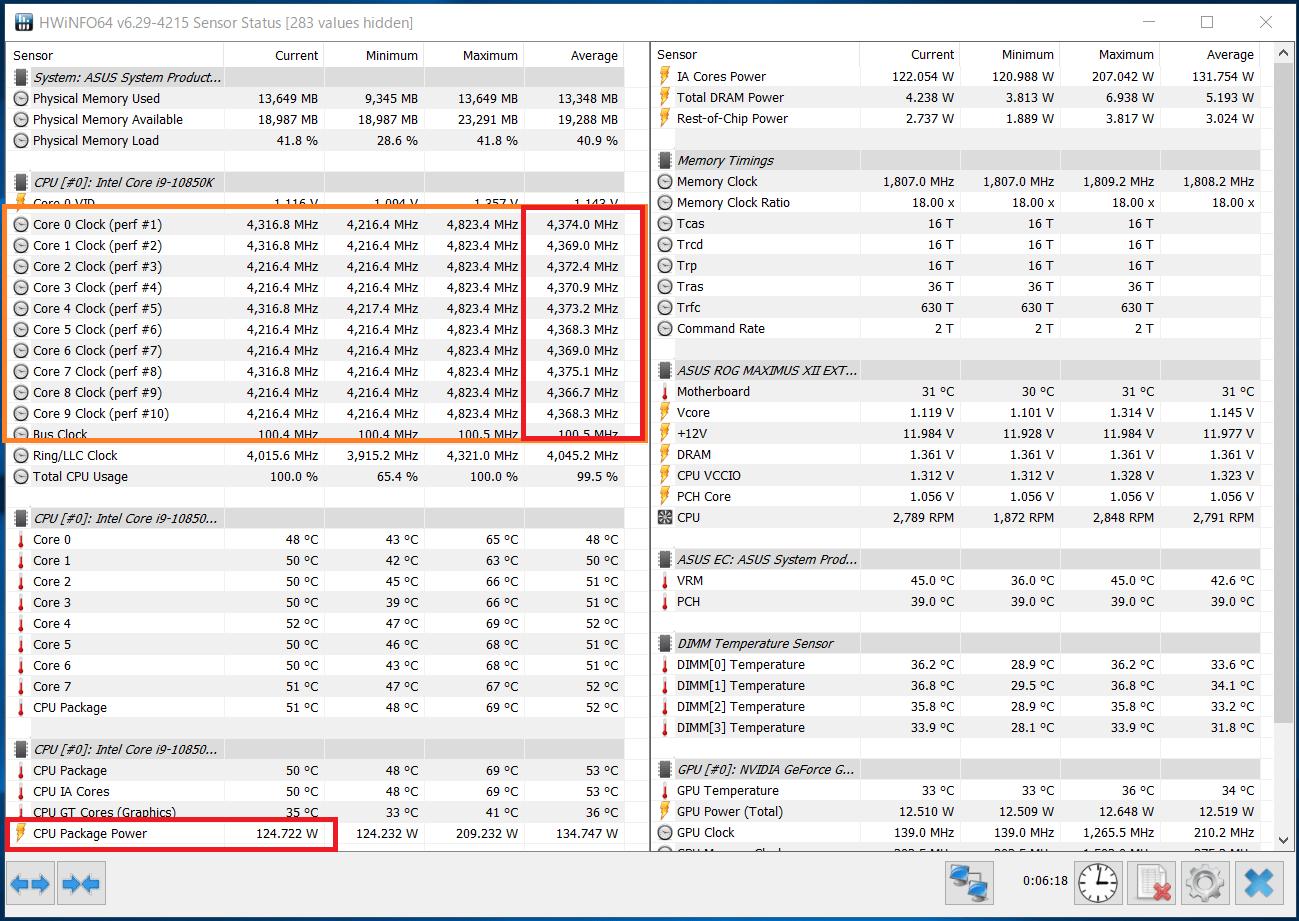 Intel Core i9 10850K_Boost-Clock_multi_PL1