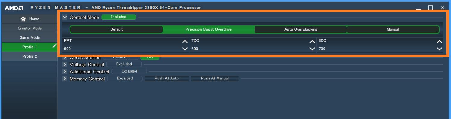 Precision Boost Overdrive_setting_Ryzen Master
