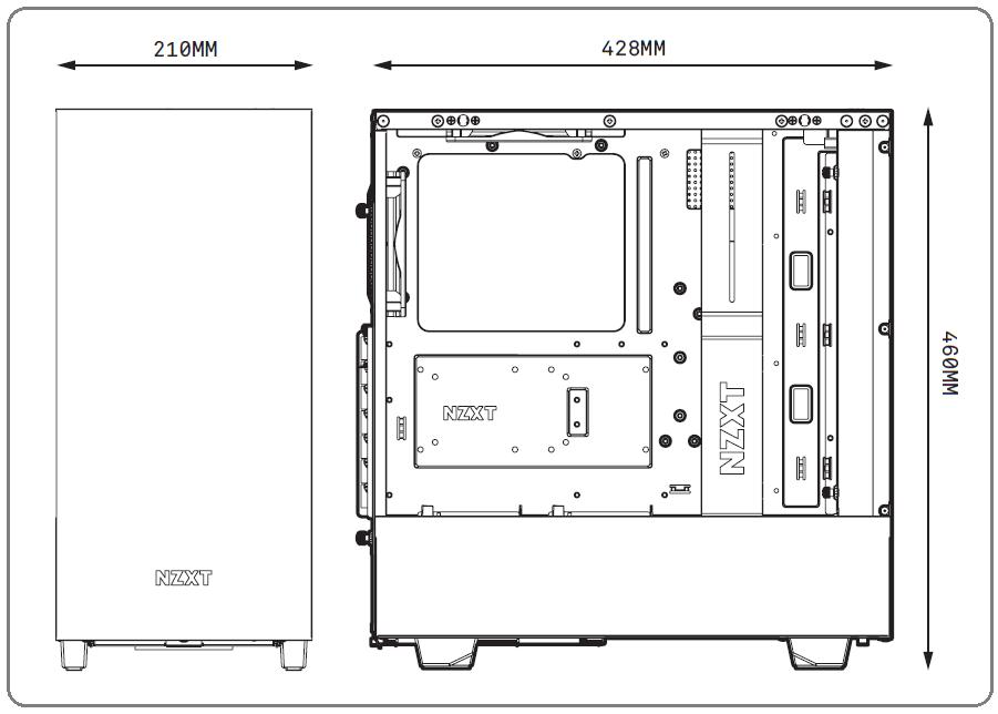 NZXT H500i_Dimensions