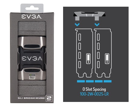 EVGA PRO SLI Bridge HB, 0 Slot Spacing (100-2W-0027-LR)