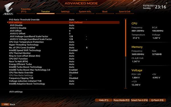 GIGABYTE Z590 AORUS ULTRA_BIOS_OC-Test (3)