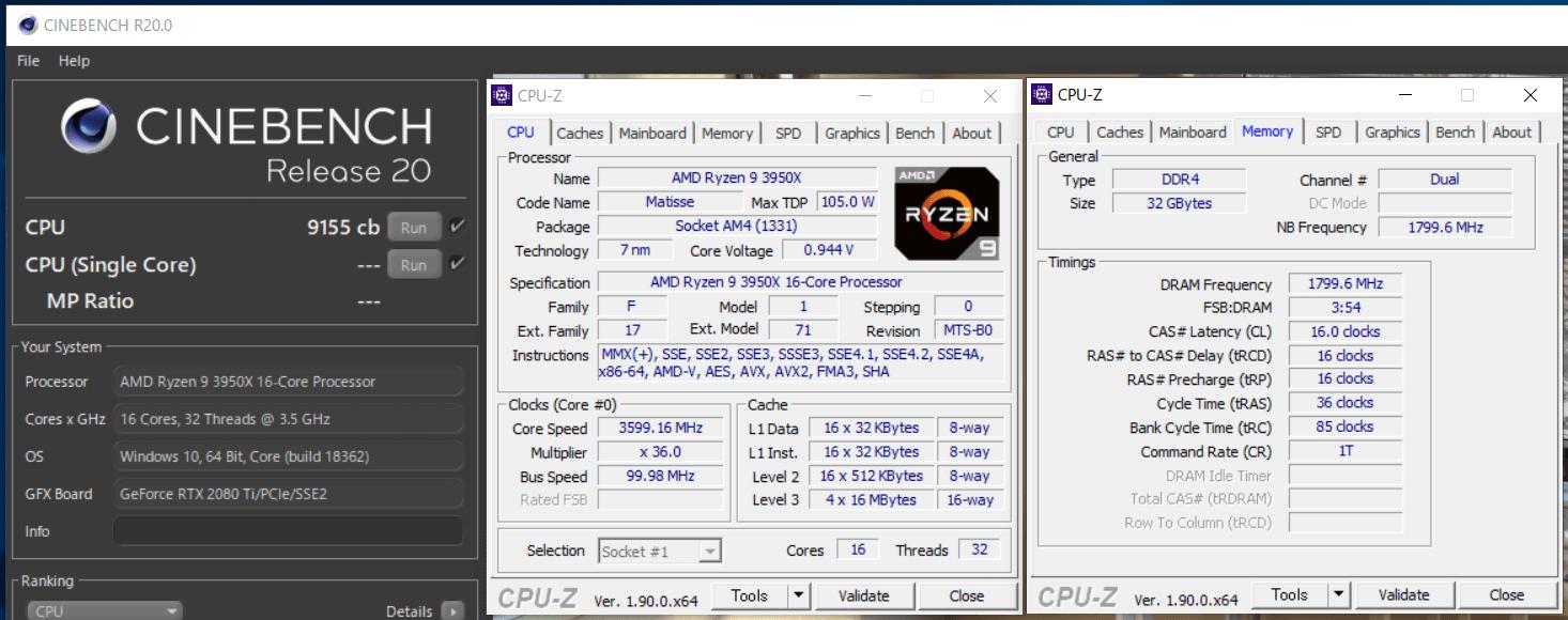 AMD Ryzen 9 3950X_cinebench R20