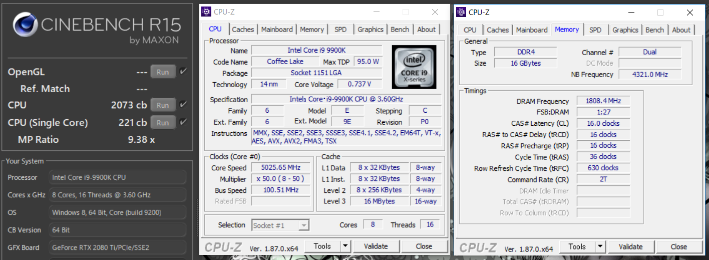 Core i9 9900K_cinebench
