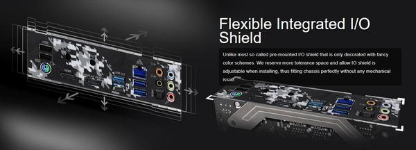 ASRock Flexible Integrated IO Shield