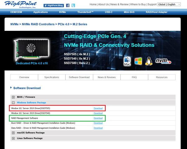 HighPoint SSD7505_dl