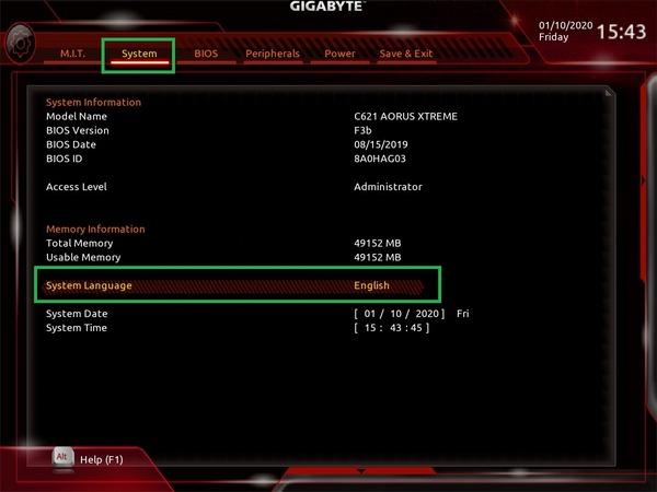 GIGABYTE C621 AORUS XTREME_BIOS_1