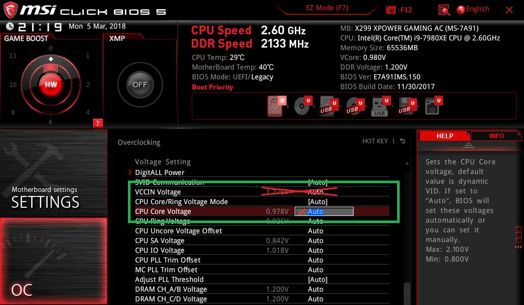 MSI X299 XPOWER GAMING AC_BIOS_OC_15