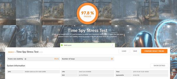 ZOTAC GAMING GeForce GTX 1660 SUPER Twin Fan_TimeSpy Stress Test