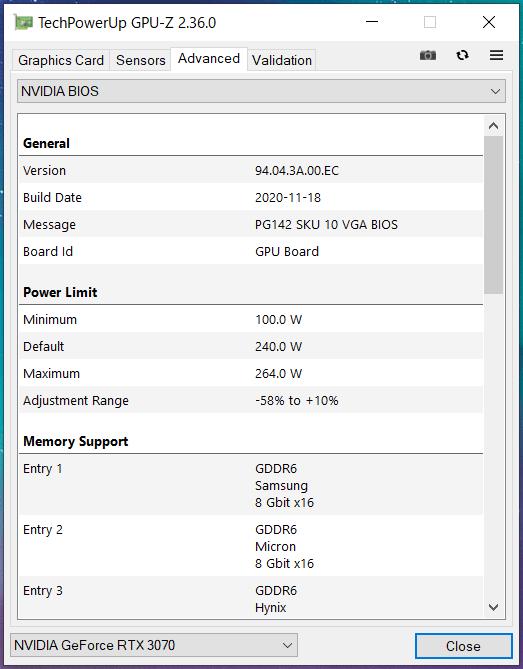ZOTAC GAMING GeForce RTX 3070 AMP Holo_GPU-Z (3)