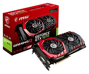 MSI オリジナルクーリングシステム『TWINFROZR VI』搭載 GeForce GTX 1070グラフィックボード GeForce GTX 1070 GAMING X 8G