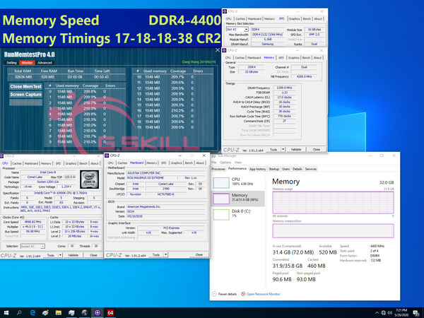 G.Skill Trident Z For Intel Core 10th_4400MHz_C17_32D16