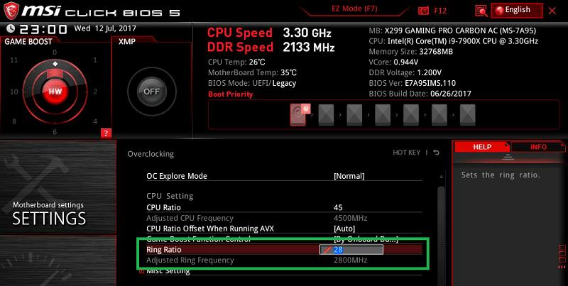 MSI X299 GAMING PRO CARBON AC_BIOS_OC_6