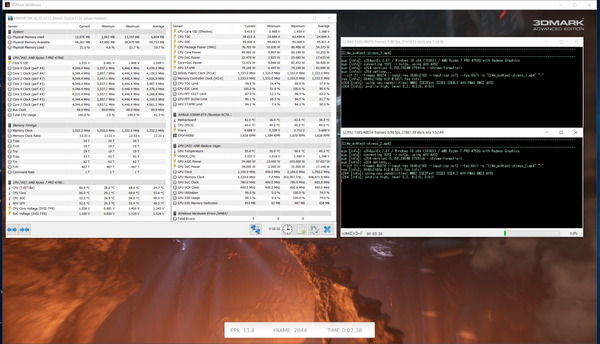 AMD Ryzen 7 PRO 4750G_Deskmini A300_GPU&CPU_Stress