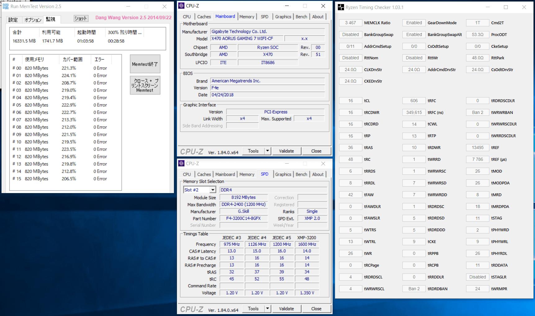 GIGABYTE X470 AORUS GAMING 7 WIFI_OC Test_mem_2