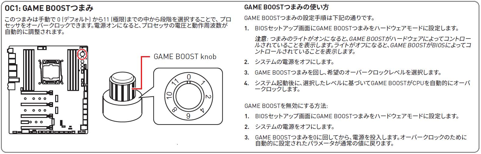 GAME Boost Knob