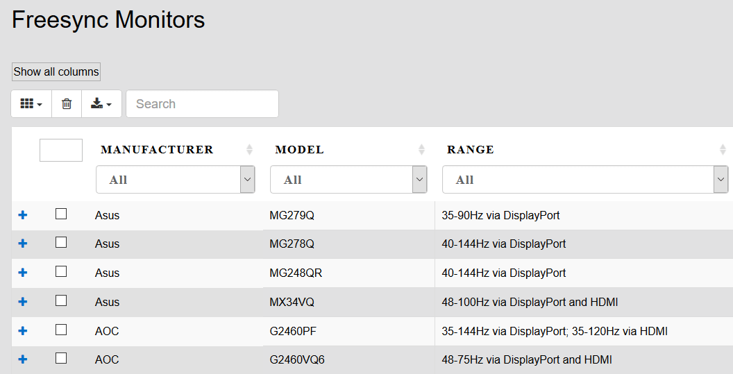 FreeSync_list