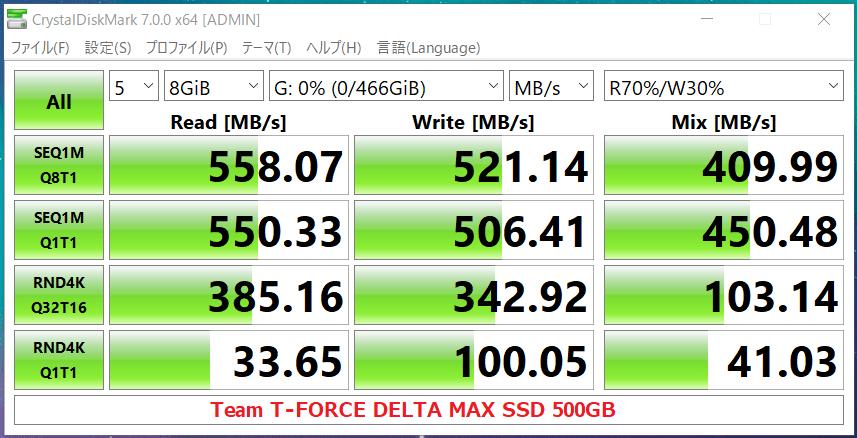 Team T-FORCE DELTA MAX SSD 500GB_CDM7