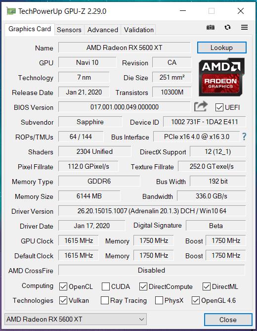 SAPPHIRE PULSE Radeon RX 5600 XT(PM)_GPU-Z (1)