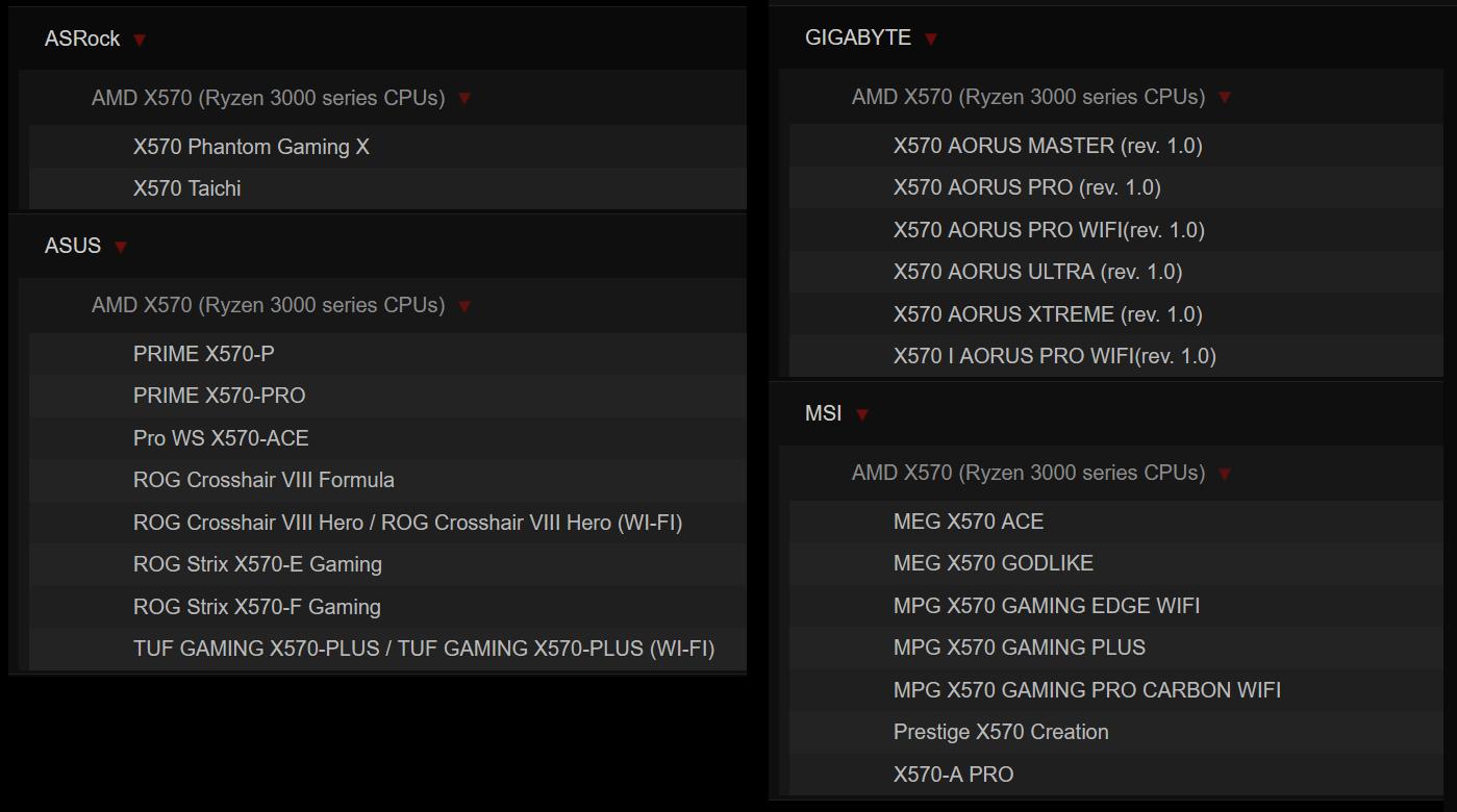 G.Skill Trident Z Neo F4-3600C14Q-32GTZN_QVL