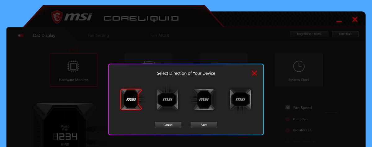 MSI MPG CORELIQUID K360_LCD-Display_rotation