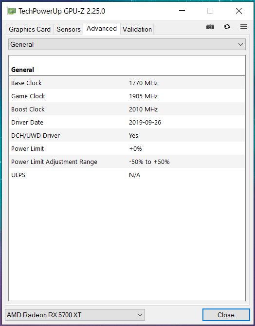 SAPPHIRE NITRO+ Radeon RX 5700 XT_perf_GPU-Z (2)