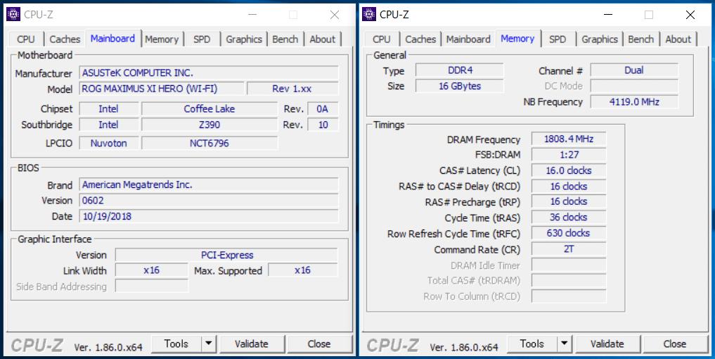 Intel LGA1151_Z390_CPU-Z