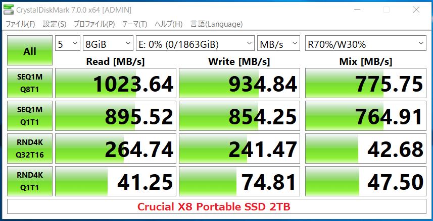 Crucial X8 Portable SSD 2TB_CDM7