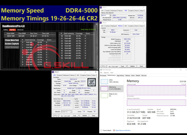 G.Skill Trident Z For Intel Core 10th_5000MHz_C19_32D16