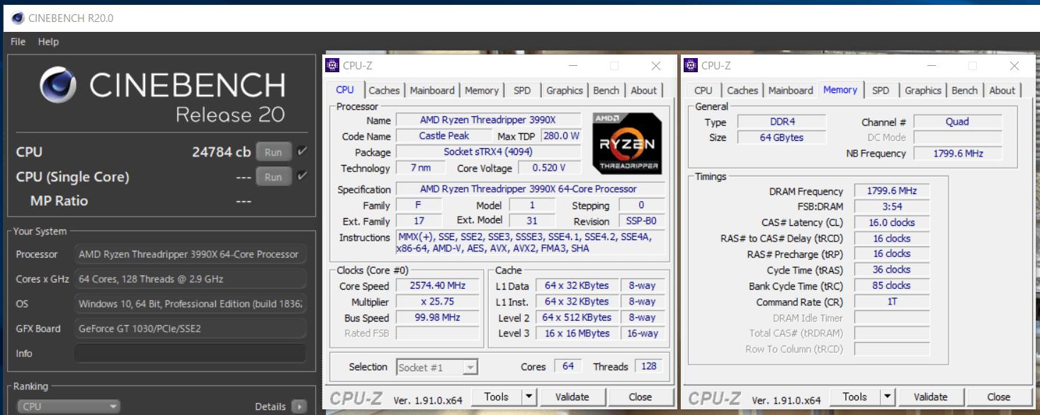AMD Ryzen Threadripper 3990X_cinebench-R20