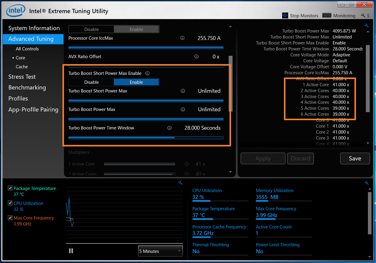 Intel Core i5 9400F_XTU_Auto