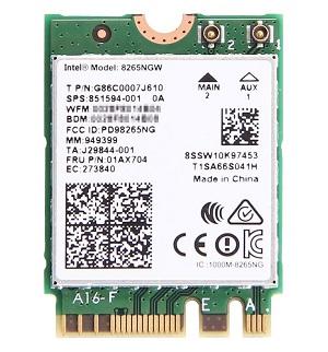 Intel Dual Band Wireless-AC 8260NGW 802.11ac/a/b/g/n + Bluetooth 4.2
