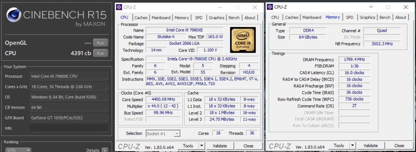 MSI X299 XPOWER GAMING AC_OC Test_Cine