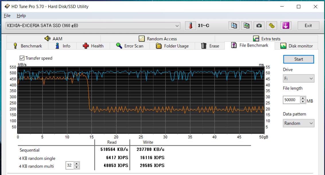KIOXIA EXCERIA SATA SSD 960GB_HDT