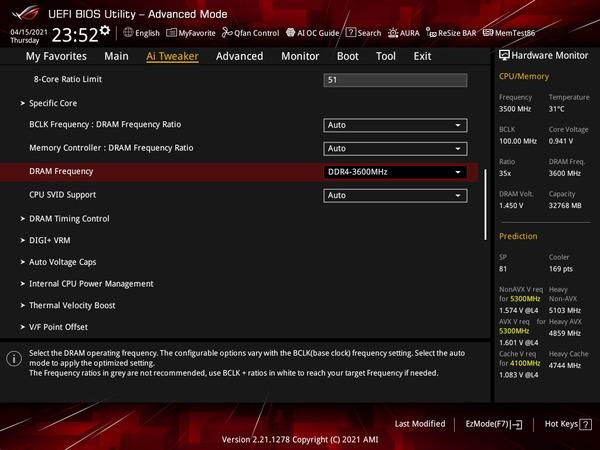 ASUS ROG STRIX Z590-I GAMING WIFI_OC Test_BIOS (2)