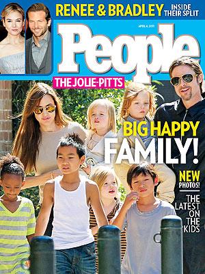 People  アンジー・ブラピ家族♪