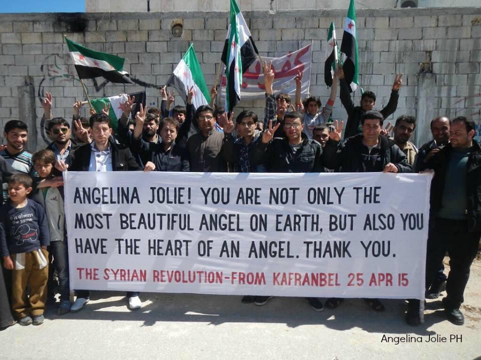 シリアの人々 アンジー歓迎