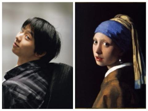 フェルメール 真珠の首飾りの少女_Fotor_Collage