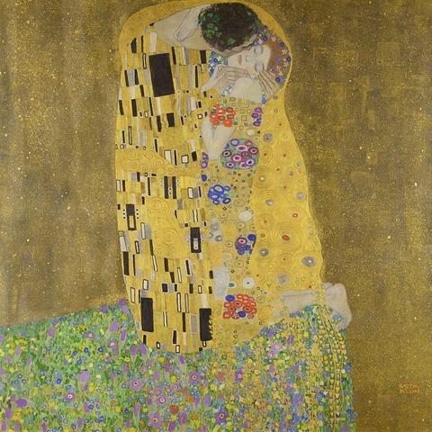 クリムト 接吻