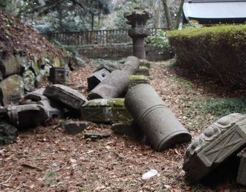 仙台 瑞鳳殿 地震被害